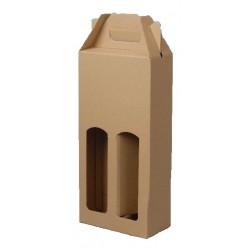Kartonová krabice na 2 lahve přírodní