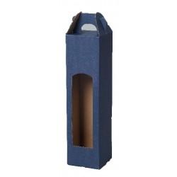 Kartonová krabice na 1 lahev modrá