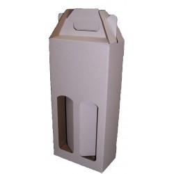 Kartonová krabice na 2 lahve bílá