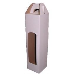 Kartonová krabice na 1 lahev bílá